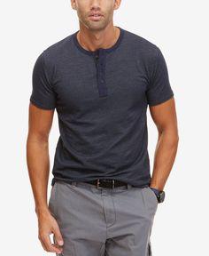Nautica Men's Slim Fit Short-Sleeve Henley