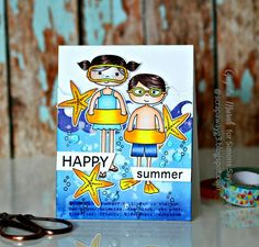 Happy Summer card by Gayatri for the Simon Says Stamp Wednesday Challenge blog!