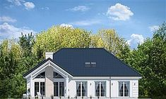 Dom nawiązuje stylistycznie do House Plans Mansion, My House Plans, Solar Panel Cost, Best Solar Panels, Bungalow House Design, Modern House Design, Cottage Plan, Facade House, Home Fashion
