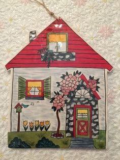 Sevgi Demirezer Clay Crafts, Wood Crafts, Diy And Crafts, Tile Art, Mosaic Art, Storybook Cottage, Clay Houses, Turkish Art, House Quilts