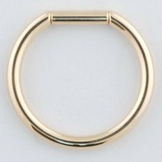 """One 14K Gold Captive Tube Ring: 14g 9/16"""" (SOLD INDIVIDUALLY. ORDER TWO FOR A PAIR.) Body Circle Designs. $163.50"""