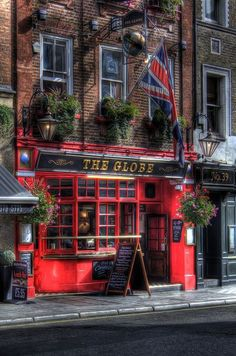 The Globe pub in Covent Garden, London. Red buildings scream London to me. London City, London Pubs, British Pub, Pub Signs, Pub Crawl, London Calling, London Travel, Great Britain, Bristol