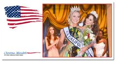 Christina M. being crowned Ms California United States