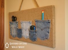 I just love projects where I can turn random stuff I have on hand into something useful.             1.DENIM   I always save my denim.  Th...
