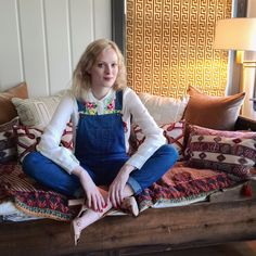 A newly minted Southerner, Karen Elson keeps her slim-cut dungarees ladylike with heels and silk. This is Nashville.  Rag & Bone/Jean overalls, $265 For information: bloomingdales.com  Oscar de la Renta blouse, Tabitha Simmons sandals