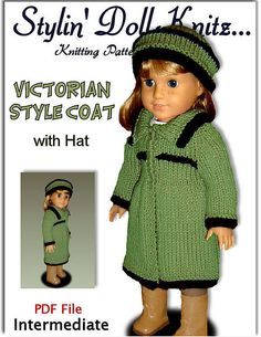 Ravelry: Doll Clothes, for American Girl doll, 18 inch 026 pattern by Jo MacKinnon