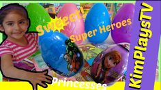 Super Heroes Hulk + Captain America and Frozen Eggs by KimPlaysTV