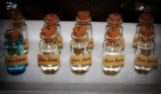 Felix Felicis (the good luck potion)  We combined corn syrup and edible glitter
