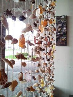 Love the seashell window treatment
