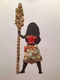 Moana (Button Art by Bern_Cisn Disney Button Art, Disney Buttons, Disney Art, Button Art On Canvas, Button Crafts For Kids, Moana Crafts, Disney Frames, Disney Diy Crafts, Sequin Crafts