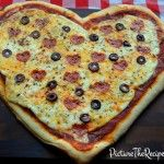 Valentine's Day Lunch: Heart Shaped Pizza
