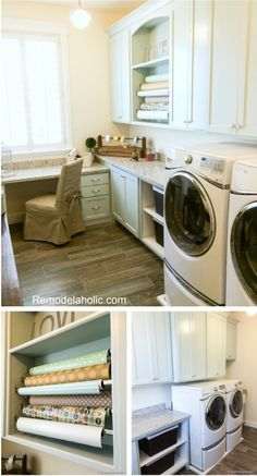 Laundry, craft, wrapping room. Cool!