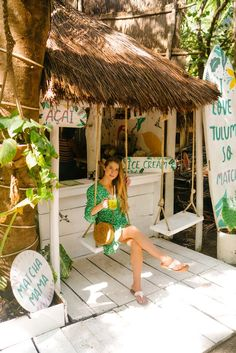 A boutique Tulum hotel that delivers an exceptional experience, Ahau Tulum was the perfect home for us and our baby during our 5 day trip. Surf Shack, Beach Shack, Ideas Cabaña, Travel Tips, Travel Destinations, Travel Hacks, Cocktails Bar, Estilo Tropical, Beach Cafe