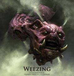 Weezing by J. R. Coffron