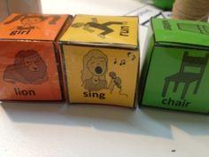 Printable colourful semantics dice.