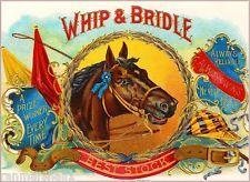 Hunter Horse Rider Tobacciana Vintage Cigar Box Label Advertisement ART PRINT