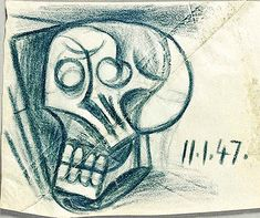 Skull Doodle - Picasso