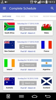 World Cup Live, Rugby World Cup, Finals, New Zealand, Funny Memes, Android, France, Watch, Clock