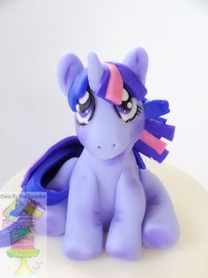 Twilight Sparkle My Little Pony Cake  Topper made from gum paste.