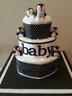 Penguin themed baby shower