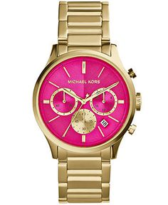 Michael Kors Women's Chronograph Bailey Gold-Tone Stainless Steel Bracelet Watch 44mm MK5909 - Watches - Jewelry  Watches - Macy's ❤️❤️❤️must have