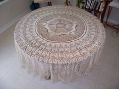 Rose of England tablecloth by theresaknits, via Flickr