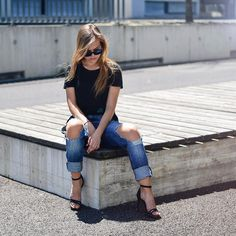 Raise your hands  if you like this look. Shop this look from @vilteju at ootdmagazine.com