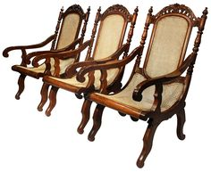 Ilocos-style Butaca, Turn-of-the-Century (Narra and Rattan) Antique Chairs, Antique Furniture, Ilocos, Furnitures, Wood Art, Rattan, Philippines, House Design, Rococo