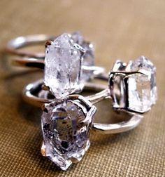 Erica Weiner Herkimer Diamond Rings