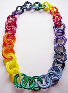 Polymer clay chain links!!