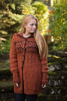 Suéter tejido a mano de lana pura islandés