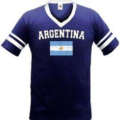 Argentina Flag International Soccer Ringer T-shirt, Argentine Soccer Mens Ringer T-shirt (Apparel)  http://macaronflavors.com/amazonimage.php?p=B003R4R08G  B003R4R08G