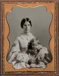 1859 - Olivia Dorsey and daughter Eugenia ~ daguerreotype
