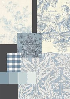 The Paper Mulberry: Romantic French Fabrics - Powder Blue toile
