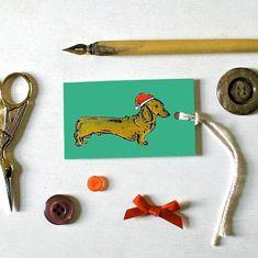 Dachshund Dog Christmas Tags