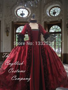 Marie Antoinette Dress Georgian Colonial 18th century taped  Satin Evening Gown Fully Boned for Authentic bust  Dress