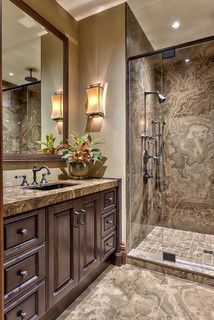 Mountain Resort - Rustic - Bathroom - other metro - by ACM Design