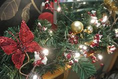 Illuminated swags and garlands add a real festive feel to any room. We do Christmas! See our website for details... Live Reindeer, Santa in residence and amazing Christmas displays...