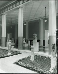 View facing east;The Metropolitan Museum of Art, The Lamont Wing, Roman Court (Wing K, Room 2); Gallery 162. Photographed in 1940. Image © The Metropolitan Museum of Art