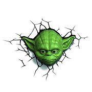 Star Wars Yoda Head 3D Nightlight, Not Mint