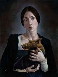 Benjamin A. Vierling 'Woman with Beast, 2011 oil and egg tempera on panel