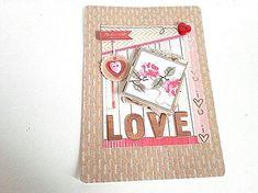 Carte de st valentin double 3d ou carte pour toute occasion