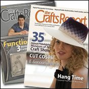 The Crafts Report Magazine, only $12 for a one year digital subscription