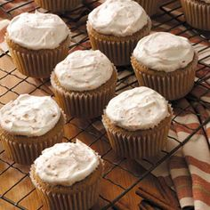 Root Beer Cupcakes Recipe -Root beer barrel candies and a spice cake-like batter give these cupcakes an old-fashioned flavor. Kids will especially love them! —Dot Kraemer, Cape May Court House, New Jersey