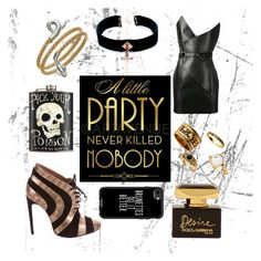"""""""Party"""" by slytherinemily on Polyvore featuring VSA, Yves Saint Laurent, Dolce&Gabbana and Casetify"""