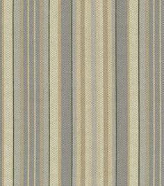 Home Decor Print Fabric Waverly Lucky Stripe Ironstone