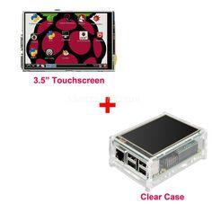 "Best Price Original 3.5"" LCD TFT Touch Screen Display for Raspberry Pi 2  / Raspberry Pi 3 Model B Board + Acrylic Case +Stylus"