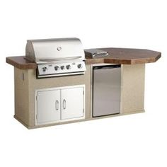 Bull Outdoor Products Aspen Q Ii Outdoor Kitchen Island With Stainless Steel Natural Gas Grill Aspen Q Ii At The Home Depot
