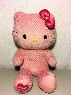6ac03df4a90 Build A Bear Hello Kitty Plush Limited Edition Pink Sanrio Heart Foot w   Bow 18