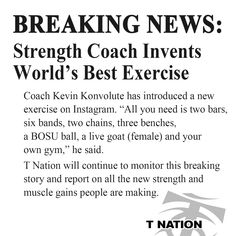 T NATION - The Best Strength Training and Bodybuilding Articles, Workouts, and Supplements to Help You Get Bigger, Stronger, and Leaner! Exercise Coach, Bosu Ball, Powerful Words, All You Need Is, Strength Training, Bodybuilding, Health Fitness, Gym, Workout